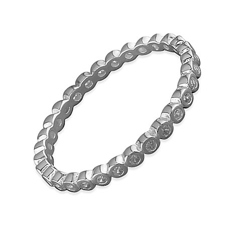 Seodra Silver Eternity Style Stacker Ring