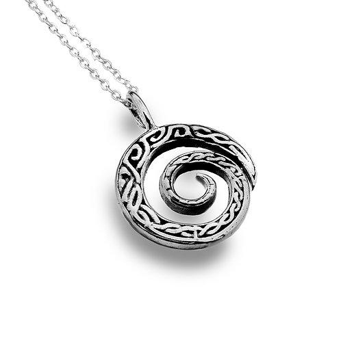 Celtic Lands Sterling Silver Spiral Necklace