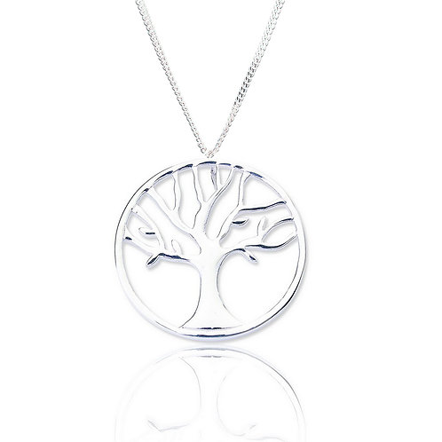 Seodra Sterling Silver Tree of Life Necklace