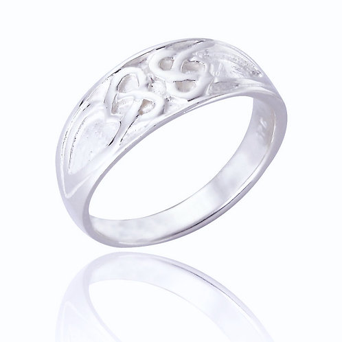 Seodra Sterling Silver Celtic Band Ring