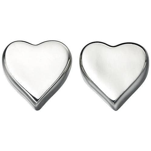 Seodra Sterling Silver Heart Stud Earrings