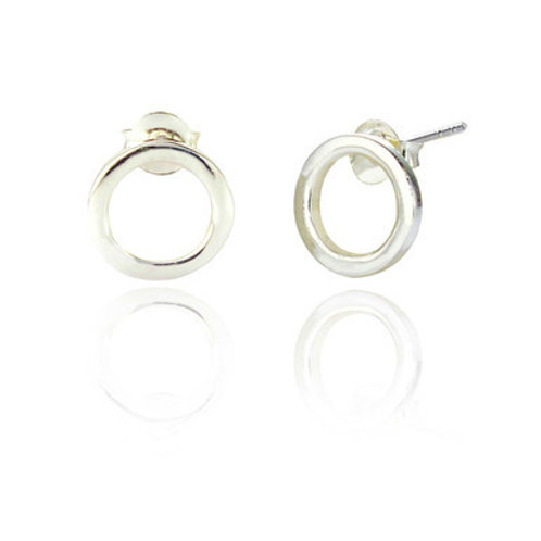 Seodra Sterling Silver Circle of Life Earrings