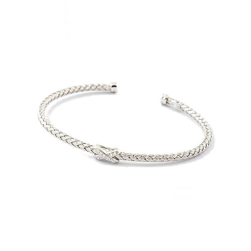 Virtue Exquisite Sterling Silver Kiss Bangle