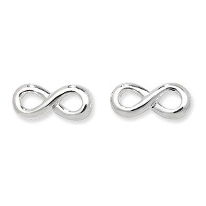 Seodra Sterling Silver Infinity Stud Earrings