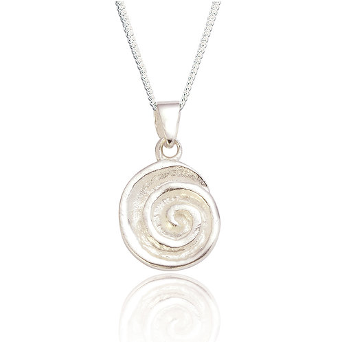 Seodra Sterling Silver Spiral Necklace