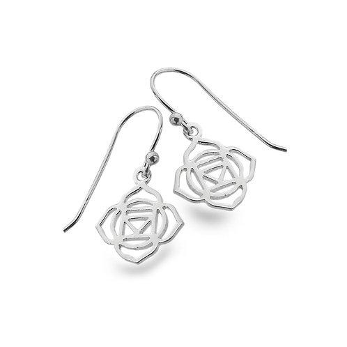 Pure Origins Silver Chakra Lotus Earrings
