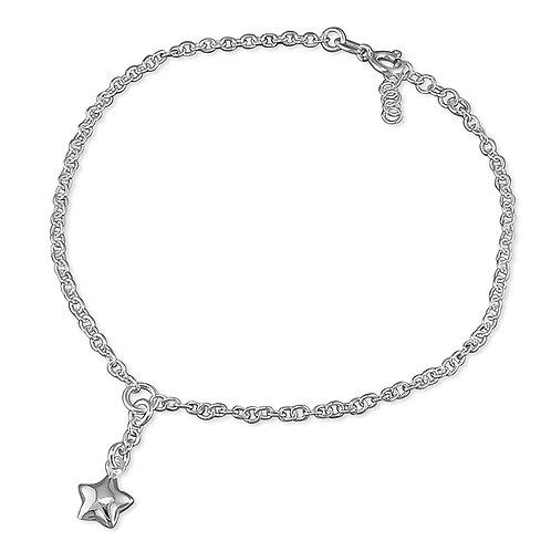 Seodra Sterling Silver Star Ankle Bracelet