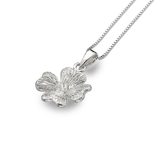 Pure Origins Sterling Silver Geranium Flower Necklace
