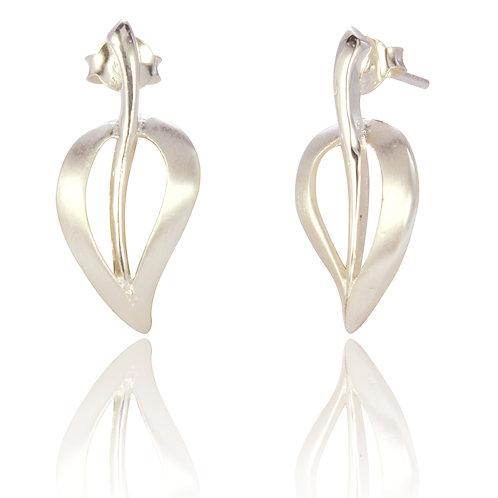 Seodra Sterling Silver Open Leaf Necklace