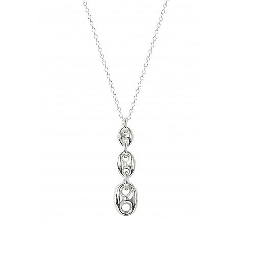 Virtue Exquisite Silver Anchor Link Necklace