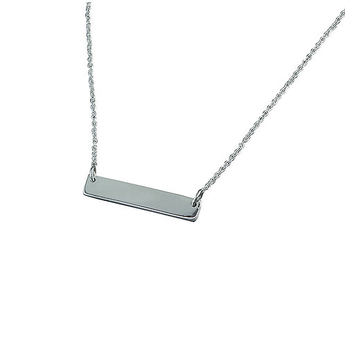 Seodra Sterling Silver ID Tag Necklace