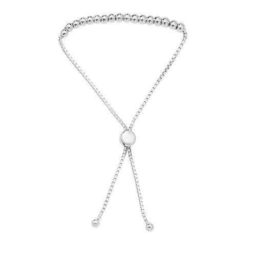 Seodra Silver Bead Slider Bracelet