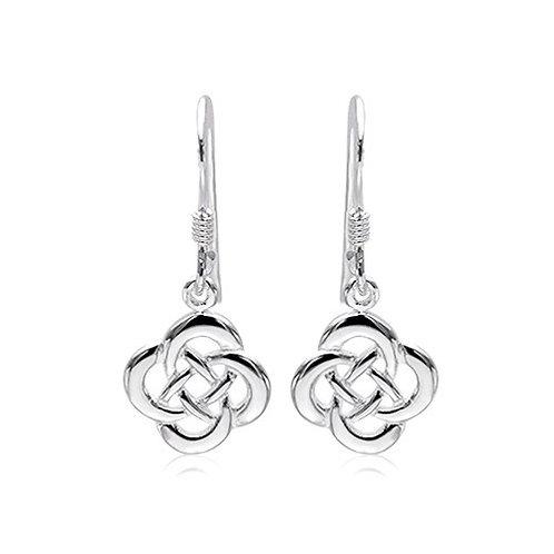 Seodra Sterling Silver Celtic Infinity Knot Earrings