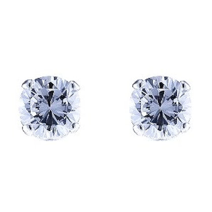 Seodra Sterling Silver & Cubic Zirconia Round Stud Earrings