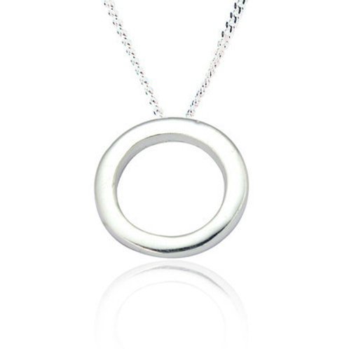 Seodra Sterling Silver Circle of Life Necklace