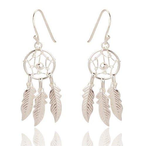 Seodra Sterling Silver Dreamcatcher Earrings