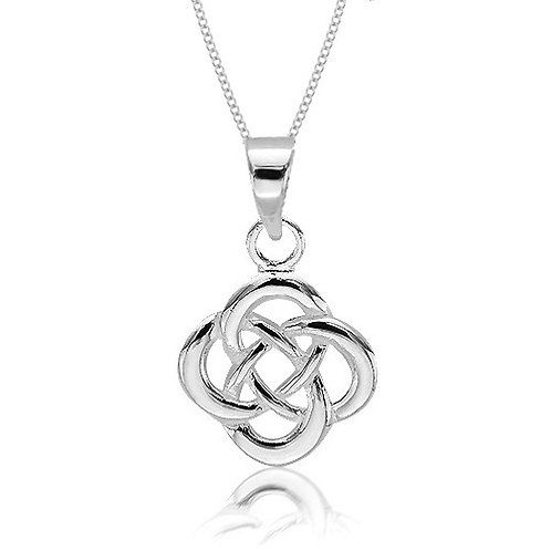 SEODRA Silver Infinity Knot Necklace
