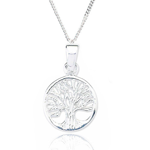 Seodra Silver Tree Of Life Necklace