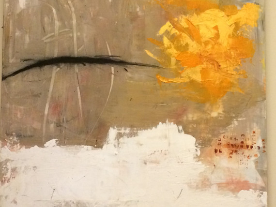 "Summer (2014), charcoal, acrylic, 36x24"""