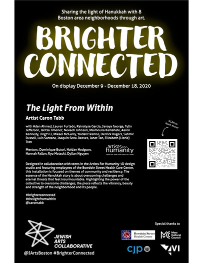 Brighter Connected window sign Caron Tab