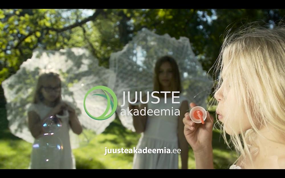Реклама Juuste Akadeemia с участием Софьи и Весты Алексеевых