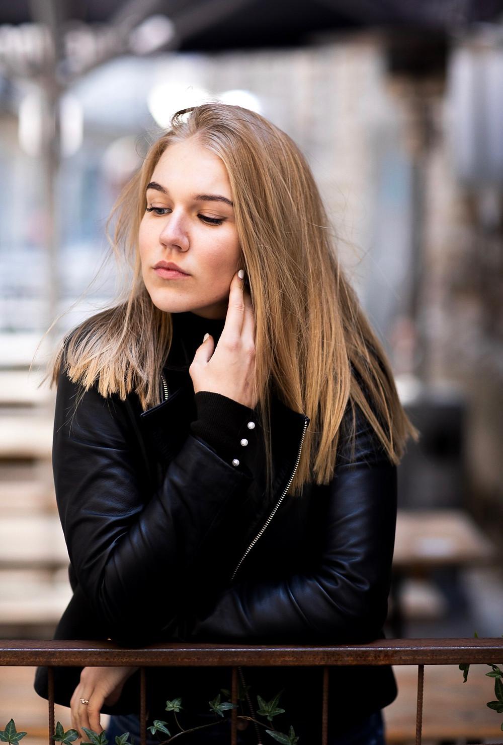 Анастасия Ильницкая, ученица модельной школы eR-Models, в рекламной фотосессии