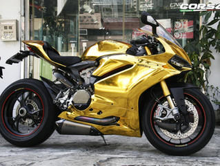 Shiny!!The flash gold wrap and coating service