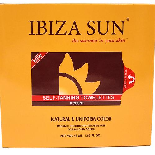 Ibiza Sun- Organic Self Tanning Towelettes.8 count