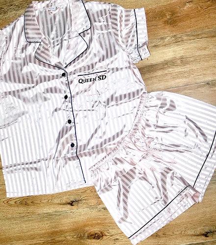 Satin stripe pyjamas