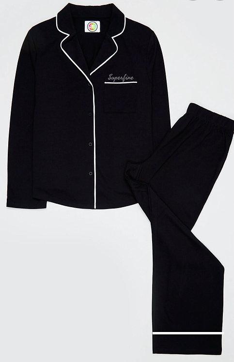 Black Jersey pyjamas