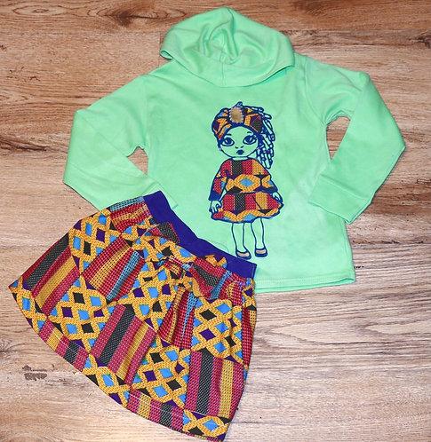 Teshsa skirt outfit