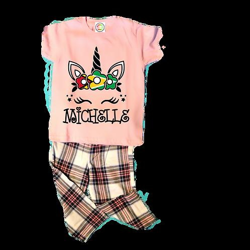 Pink tartan pyjamas
