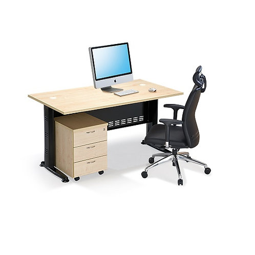 QT 158 Office Rectangular table with metal J leg