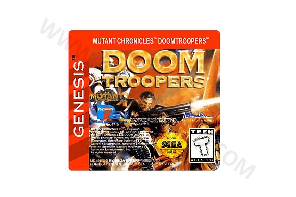 Label Para cartucho de Mega Drive