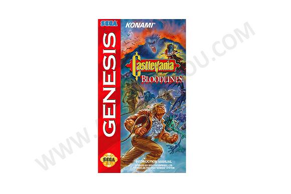 Manual Castlevania Bloodlines Genesis