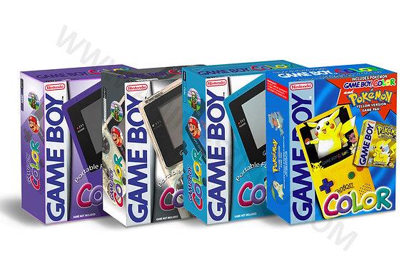 Caixas Para ConsoleS Gb & GBC (Varias Cores)
