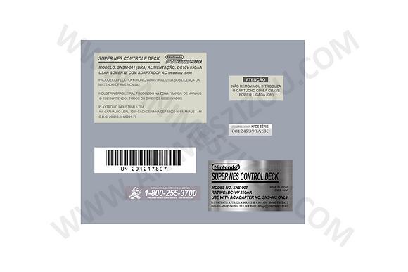 Kit de Adesivos Snes (Console)