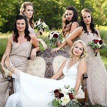 These ladies and their bold lips! #bride