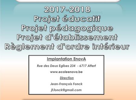 Notre projet pédagogique est disponible !