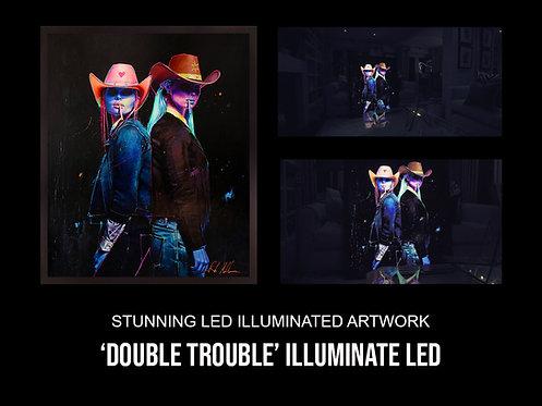 'Double Trouble' Stunning LED Illuminated Art Work