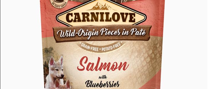 Carnilove POUCH Alimento Úmido de Salmão com Blueberries para CÃES