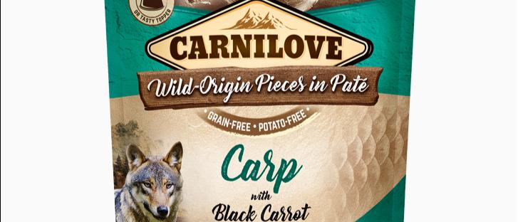 Carnilove POUCH Alimento Úmido de Carpa com Cenouras Negras para CÃES