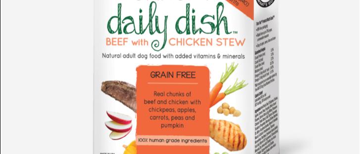 Ensopado de carne Bovina e de Frango para Cães Daily Dish