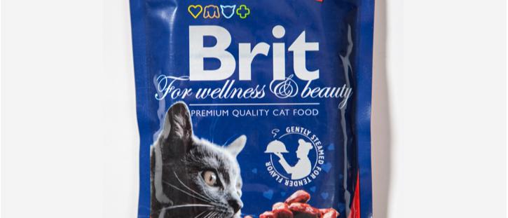 Ensopado de CARNE e ERVILHAS para Gatos - BRIT