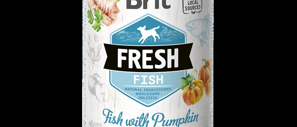 BRIT FRESH - Carne de PEIXE com Abóbora para Cães