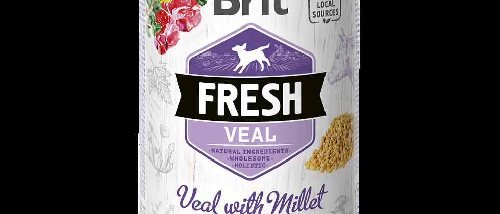 BRIT FRESH - Carne de VITELA com Painço para Cães