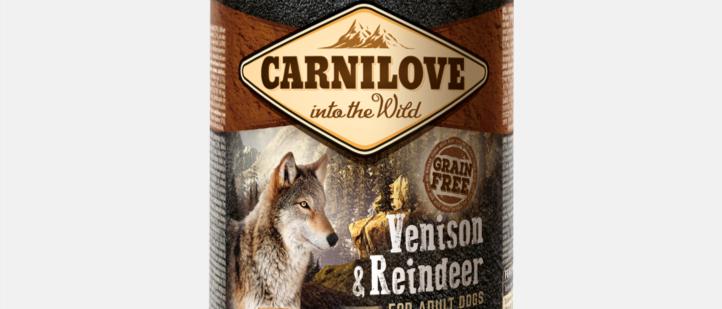 Carnilove Alimento Úmido de Cervo e Rena para CÃES Adultos