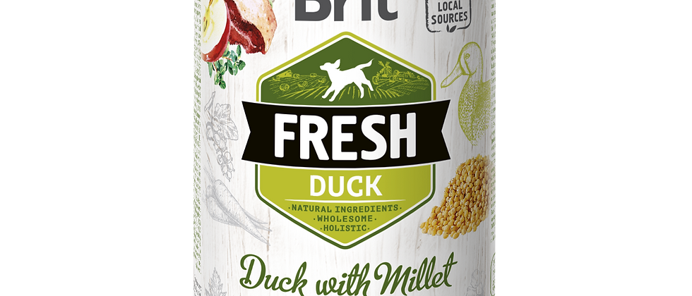 BRIT FRESH - Carne de PATO com Painço para Cães