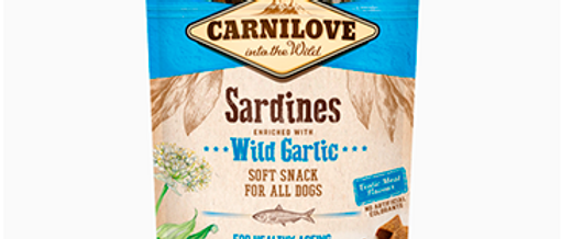 Snack Carnilove SOFT de Sardinha com Alho Poró para CÃES