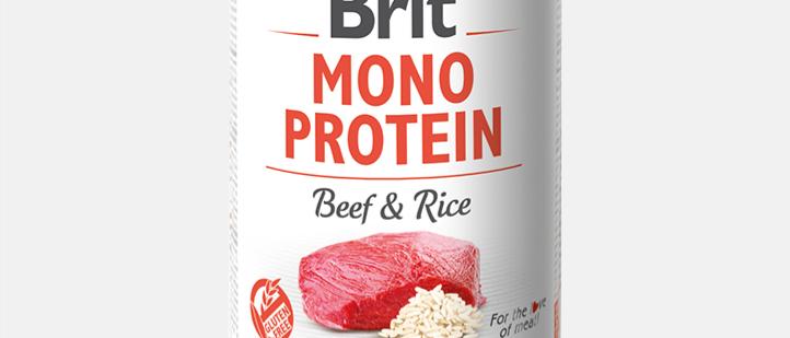 Brit Mono Protein - Alimento Úmido de BEEF & Arroz
